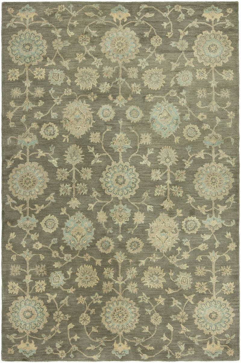 Libra Brown Grey Hand-Knotted Area Rug - AllRugs