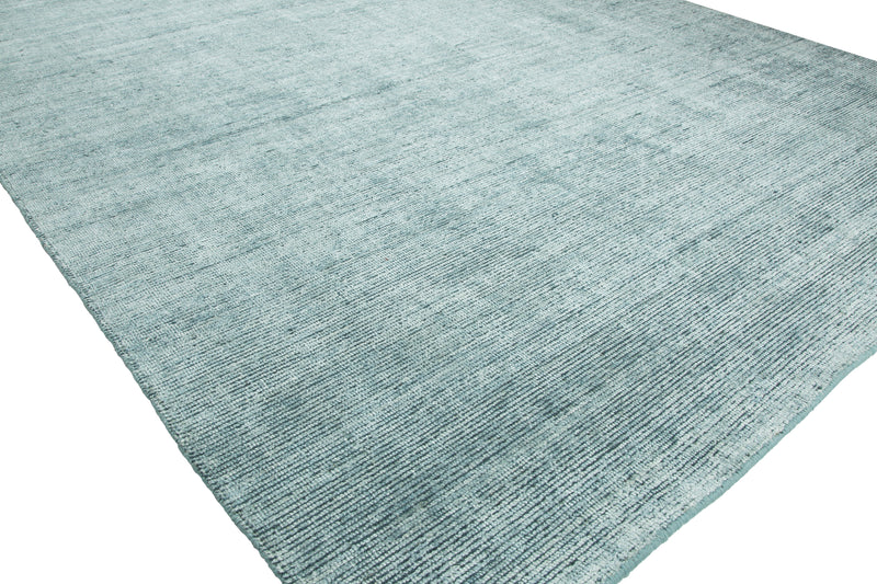 Virgo Spa Blue Hand-Knotted Area Rug - AllRugs
