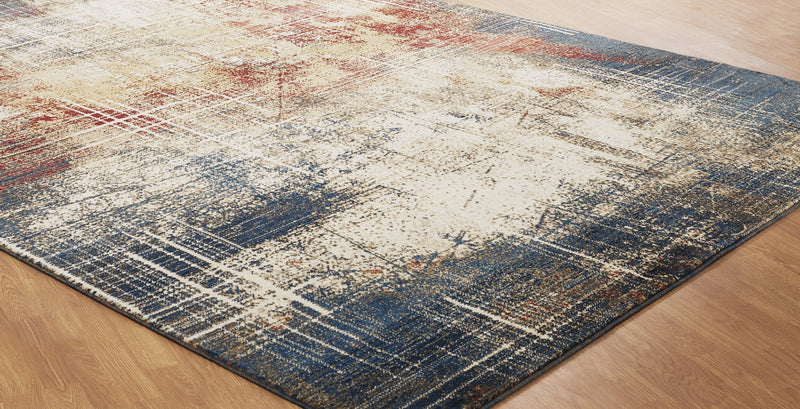 Aquila Sunset/Denim Hand-Knotted Area Rug - AllRugs