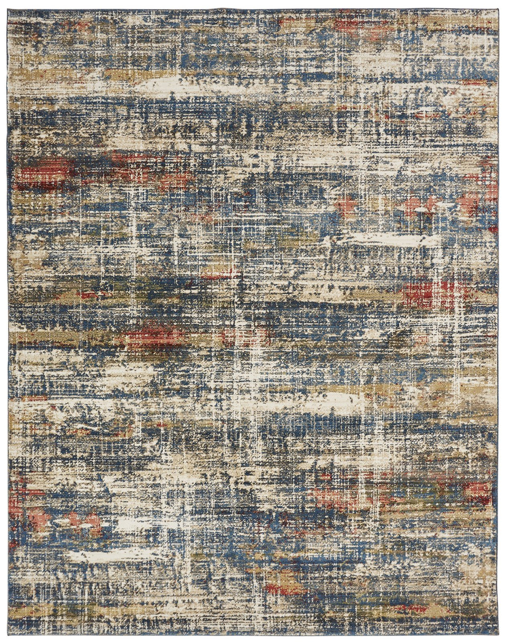 Aquila Blues/Multi Hand-Knotted Area Rug - AllRugs