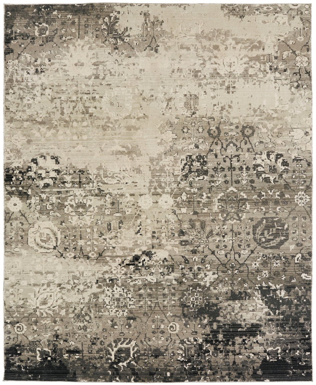 Aquila Granite Greys Hand-Knotted Area Rug - AllRugs