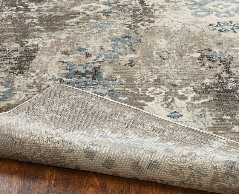 Aquila Blues / Greys Hand-Knotted Area Rug - AllRugs