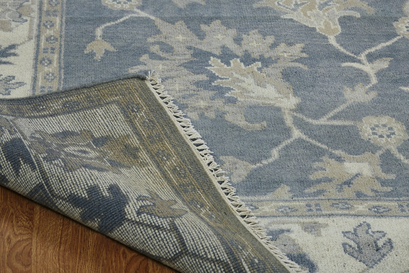 Moonrise Dark Blue Hand-Knotted Area Rug - AllRugs