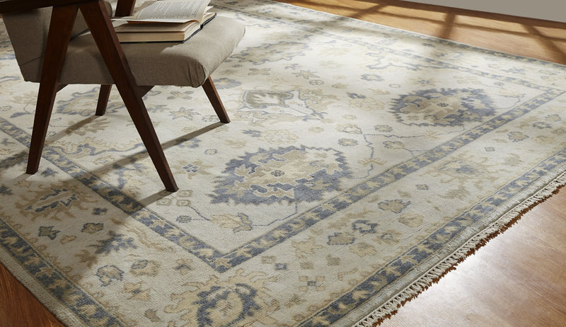 Moonrise Beige Hand-Knotted Area Rug - AllRugs