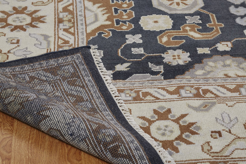 Moonrise Navy Hand-Knotted Area Rug - AllRugs