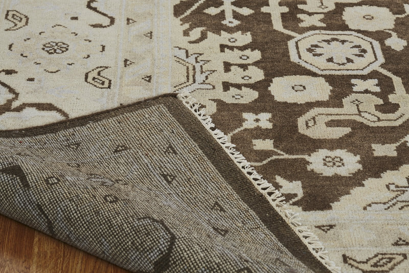 Moonrise Brown Hand-Knotted Area Rug - AllRugs