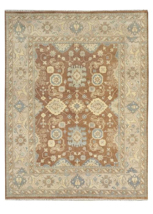 Moonrise Brown/Beige Hand-Knotted Area Rug - AllRugs