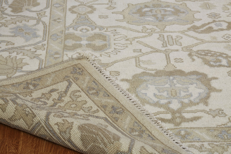 Moonrise Ivory Hand-Knotted Area Rug - AllRugs