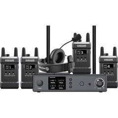 Hollyland Full-Duplex Intercom System w/ 4x Beltpack Transceivers