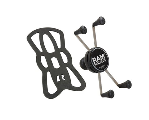 "RAM Mount X-Grip IV Large Universal Phone Cradle w/ 1"" Ball & Tether"