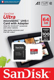Sandisk Ultra Micro SD Memory Card 64/128 Gb