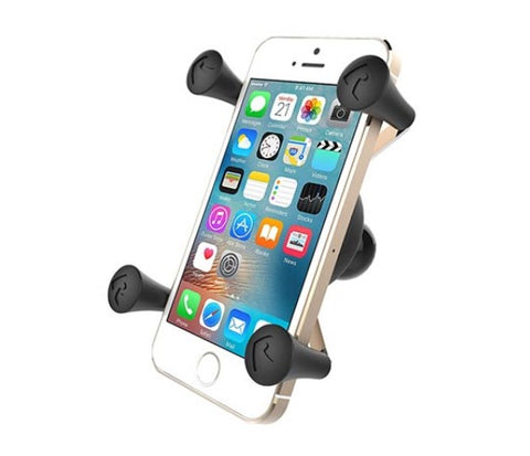 "RAM Mount Universal X-Grip Mobile Phone Cradle w/ 1"" Ball & Tether"
