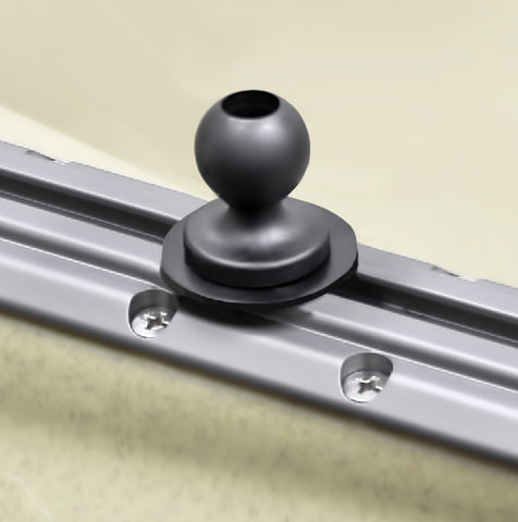 "RAM Mount Plastic 1"" Ball Track Base w/ T-Bolt Attachment"