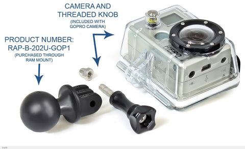 "RAM 1"" Ball for All GoPro Cameras"