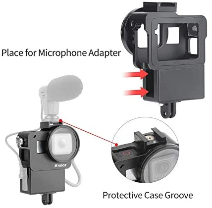 Aluminum Case w/ Audio Adapter Holder for GoPro Hero5/6/7 Black