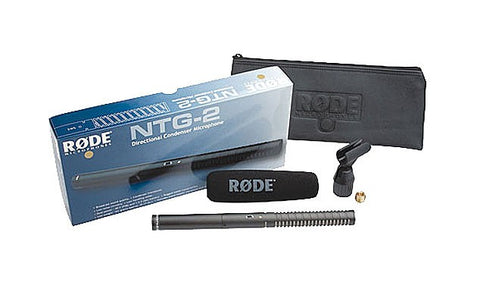 Rode NTG2 Battery or Phantom Powered Condenser Shotgun Microphone
