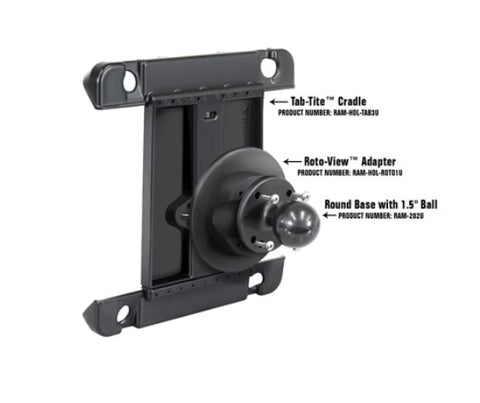 RAM Mount Roto-View Adapter Plate for Tablets