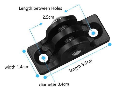 Low Profile Screw Mount for GoPro