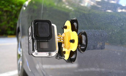 Mini Triple Suction Cup for GoPro
