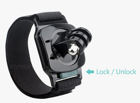 Rotating 360 Wrist Mount for GoPro