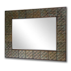 Mirror with copper frame in your house