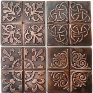 Rustic wall art with use of a metal tiles