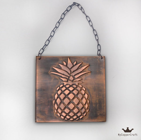Metal decor, Pineapple, Copper decor, Metal wall art, copper art,  Copper relief ,  copper ,  metal plaque