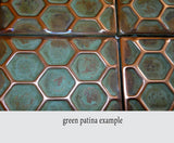metal tiles, accent tiles,  Kitchen backsplash , Snake's Skin pattern,  copper, accent  tiles, kitchen backsplash, metal , embossed copper,