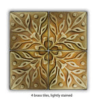 Rustic Home Decor Kitchen Tiles - set of 4