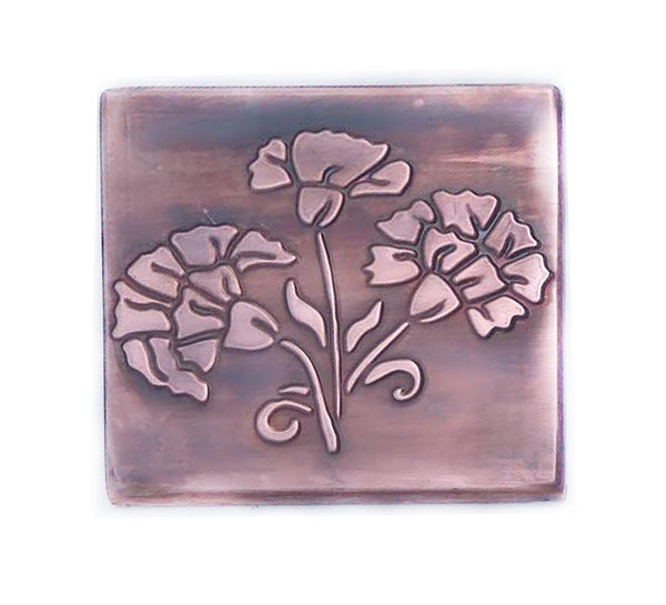 Floral Marigolds Decorative Wall Tile