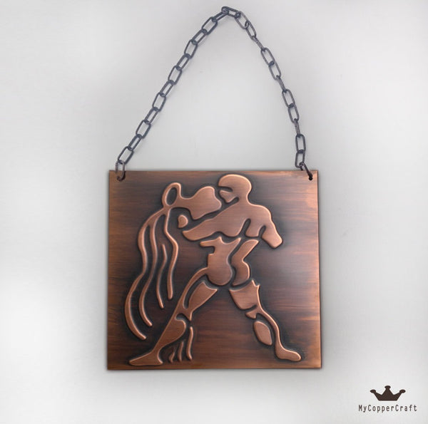 Aquarius Zodiac Sign Metal Plaque