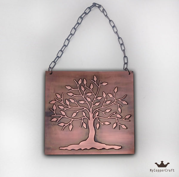 Tree of Life Metal Plaque Wall Art