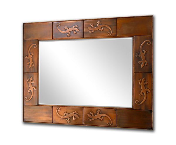 Copper Mirror Frame - Lizards Design
