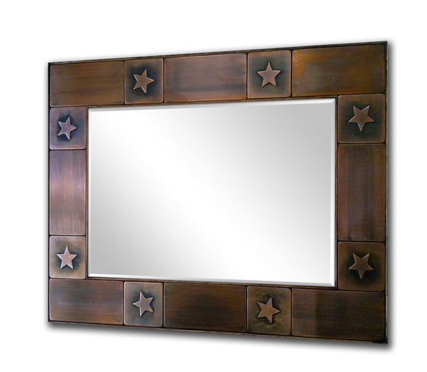 Decorative Rustic Mirror Frame - Stars Design