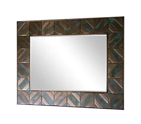 Office mirros, Mirror for office, Copper mirror frame. Metal mirror frame, Metal accent frame. LIZARDS.