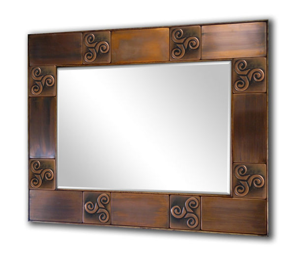 MIrrors for hotels, Hotel decorations, hotel mirrors, Copper mirror frame. Metal mirror frame, Metal accent frame.