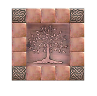 Tree of Life Kitchen Backsplash Tiles - Set of 17