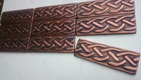 Brown Patina Copper Tiles - Set of 10