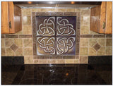 Set of 4 metal tiles, celtic tiles, celtic tile, backsplash, kitchen tiles,metal decorative tiles,copper decor, rustic, accent kitchen tile,