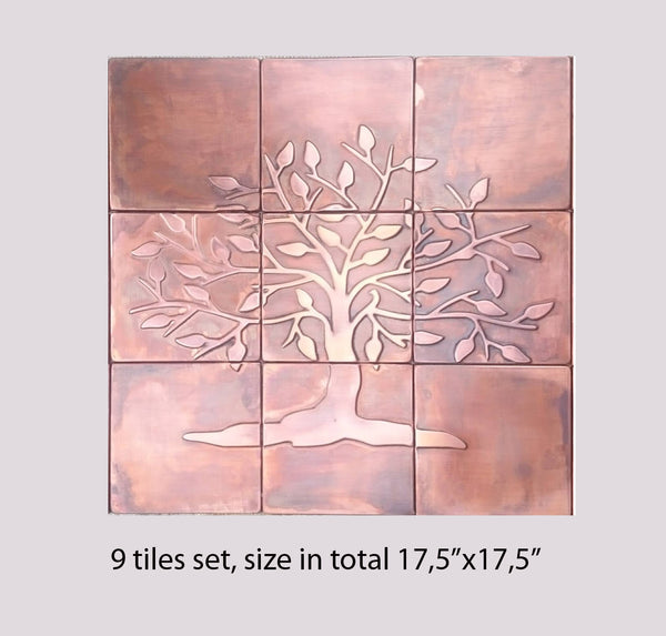 Tree of Life Wall Art - set of 9 tiles