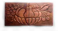 Fruit Bowl Metal Tiles - Set of 2
