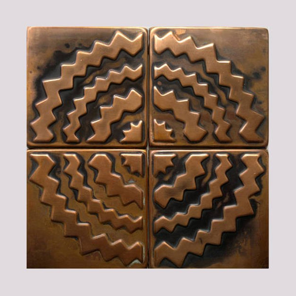 Metal Tiles for Backsplash - set of 4