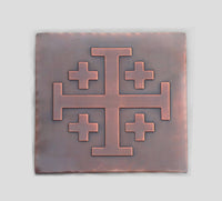 Jerusalem Cross Symbol Tile