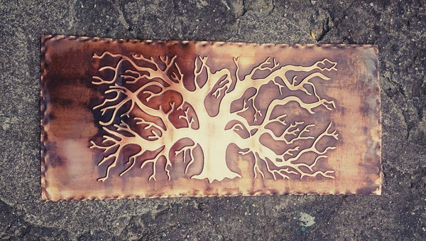 Metal Wall Mural Tree of Life Plaque