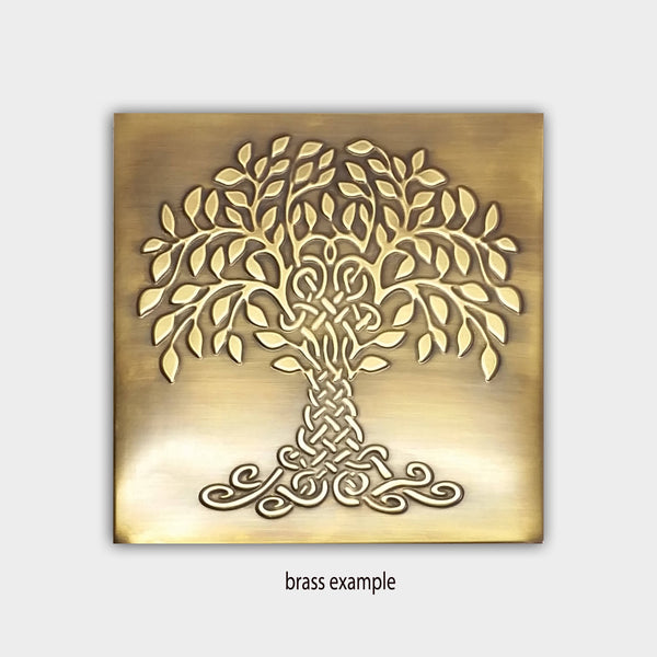 Tree of Happiness and Life Metal Decorative Tile