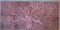Tree of Life Backsplash for Kitchen - set of 8 tiles
