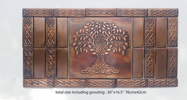 Celtic Tree of Happiness Symbol - Artistic Set of 27 Tiles