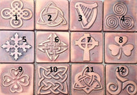 Celtic Design Metal Tiles - Set OF 9