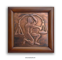 Libra Zodiac Copper Wall Plaque