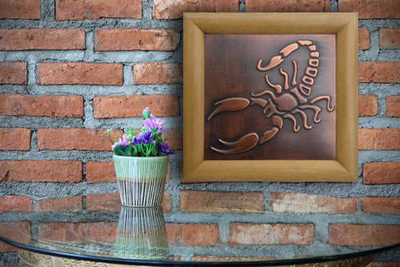 Scorpion Zodiac Plaque For Wall Art